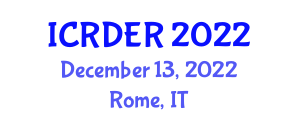International Conference on Renewables and Distributed Energy Resources (ICRDER) December 13, 2022 - Rome, Italy