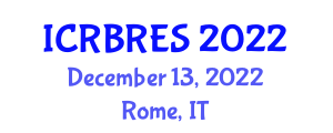 International Conference on Research and Business in Renewable Energy Sources (ICRBRES) December 13, 2022 - Rome, Italy