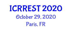International Conference on Research in Renewable Energy Sources and Technology (ICRREST) October 29, 2020 - Paris, France