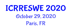 International Conference on Research in Renewable Energy Sources and Wind Energy (ICRRESWE) October 29, 2020 - Paris, France