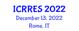 International Conference on Research in Renewable Energy Sources (ICRRES) December 13, 2022 - Rome, Italy