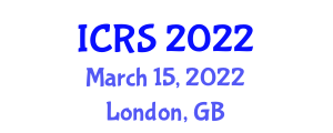International Conference on Robotic Sensors (ICRS) March 15, 2022 - London, United Kingdom