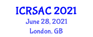 International Conference on Robotic Systems and Automatic Control (ICRSAC) June 28, 2021 - London, United Kingdom
