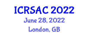 International Conference on Robotic Systems and Automatic Control (ICRSAC) June 28, 2022 - London, United Kingdom
