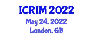 International Conference on Robotics and Intelligent Mechatronics (ICRIM) May 24, 2022 - London, United Kingdom