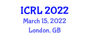 International Conference on Robotics and Learning (ICRL) March 15, 2022 - London, United Kingdom
