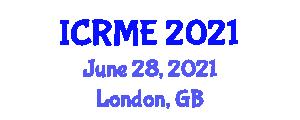 International Conference on Robotics and Mechanical Engineering (ICRME) June 28, 2021 - London, United Kingdom