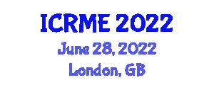 International Conference on Robotics and Mechanical Engineering (ICRME) June 28, 2022 - London, United Kingdom