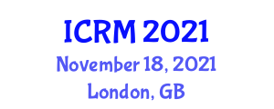 International Conference on Robotics and Mechatronics (ICRM) November 18, 2021 - London, United Kingdom
