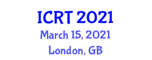 International Conference on Robotics and Technology (ICRT) March 15, 2021 - London, United Kingdom