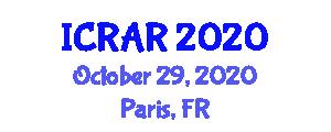 International Conference on Robotics in Agriculture and Radar (ICRAR) October 29, 2020 - Paris, France