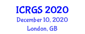 International Conference on Robotics in General Surgery (ICRGS) December 10, 2020 - London, United Kingdom