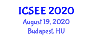 International Conference on Seismology and Earthquake Engineering (ICSEE) August 19, 2020 - Budapest, Hungary