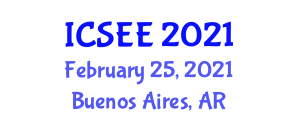 International Conference on Seismology and Earthquake Engineering (ICSEE) February 25, 2021 - Buenos Aires, Argentina