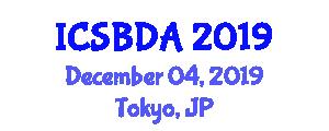 International Conference on Semantic Big Data Analytics (ICSBDA) December 04, 2019 - Tokyo, Japan