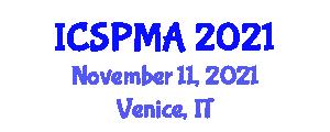 International Conference on Service Portfolio Management and Applications (ICSPMA) November 11, 2021 - Venice, Italy