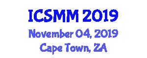 International Conference on Servo-Mechanics in Mechatronics (ICSMM) November 04, 2019 - Cape Town, South Africa