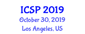 International Conference on Signal Processing (ICSP) October 30, 2019 - Los Angeles, United States