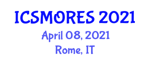International Conference on Simulation, Modeling and Optimization of Renewable Energy Systems (ICSMORES) April 08, 2021 - Rome, Italy