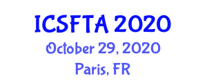 International Conference on Smart Fashion, Technology and Applications (ICSFTA) October 29, 2020 - Paris, France