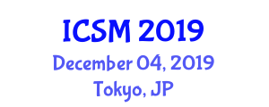 International Conference on Smart Microgrids (ICSM) December 04, 2019 - Tokyo, Japan