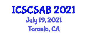 International Conference on Social Change, Sociological and Anthropological Basics (ICSCSAB) July 19, 2021 - Toronto, Canada