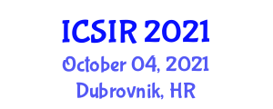 International Conference on Social Intelligence in Robotics (ICSIR) October 04, 2021 - Dubrovnik, Croatia