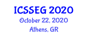 International Conference on Social Sciences, Economics and Geography (ICSSEG) October 22, 2020 - Athens, Greece