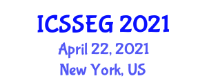 International Conference on Social Sciences, Economics and Geography (ICSSEG) April 22, 2021 - New York, United States