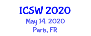International Conference on Social Work (ICSW) May 14, 2020 - Paris, France