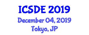 International Conference on Software Development and Engineering (ICSDE) December 04, 2019 - Tokyo, Japan