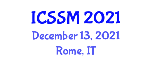 International Conference on Soil and Soil Management (ICSSM) December 13, 2021 - Rome, Italy