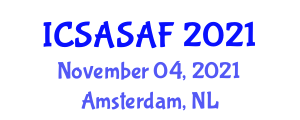 International Conference on Spacecraft Avionics Systems and Aerodynamic Forces (ICSASAF) November 04, 2021 - Amsterdam, Netherlands