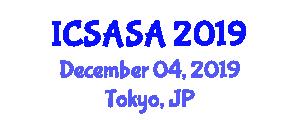 International Conference on Spacecraft Avionics Systems and Aeroelasticity (ICSASA) December 04, 2019 - Tokyo, Japan