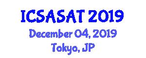 International Conference on Spacecraft Avionics Systems and Aerospace Technologies (ICSASAT) December 04, 2019 - Tokyo, Japan