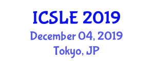 International Conference on Sports Law and Ethics (ICSLE) December 04, 2019 - Tokyo, Japan