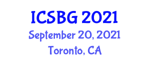International Conference on Statistical Botanical Geography (ICSBG) September 20, 2021 - Toronto, Canada