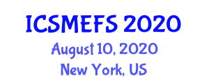 International Conference on Statistical Methods for Experimental Food Science (ICSMEFS) August 10, 2020 - New York, United States