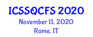 International Conference on Statistics and Statistical Quality Control in Food Science (ICSSQCFS) November 11, 2020 - Rome, Italy