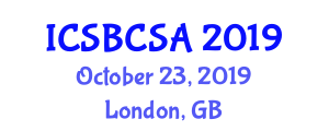 International Conference on Steel Bridge Construction and Structural Analysis (ICSBCSA) October 23, 2019 - London, United Kingdom