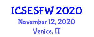 International Conference on Stream Ecosystems and Stream Food Webs (ICSESFW) November 12, 2020 - Venice, Italy
