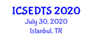 International Conference on Structural Engineering, Dynamic Tectonics and Seismology (ICSEDTS) July 30, 2020 - Istanbul, Turkey