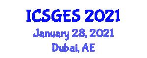 International Conference on Structural Geology and Exploration Seismology (ICSGES) January 28, 2021 - Dubai, United Arab Emirates
