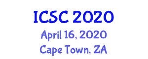 International Conference on Surface Chemistry (ICSC) April 16, 2020 - Cape Town, South Africa