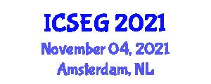 International Conference on Surveying Engineering and Geodesy (ICSEG) November 04, 2021 - Amsterdam, Netherlands