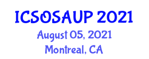International Conference on Survivability under Overheating and Social Aspects of Urban Poverty (ICSOSAUP) August 05, 2021 - Montreal, Canada