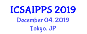 International Conference on Sustainable Agriculture and Innovative Plant Protection Systems (ICSAIPPS) December 04, 2019 - Tokyo, Japan