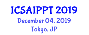 International Conference on Sustainable Agriculture and Innovative Plant Protection Technologies (ICSAIPPT) December 04, 2019 - Tokyo, Japan