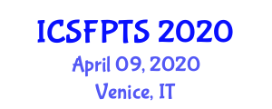 International Conference on Sustainable Food Processing Technologies and Systems (ICSFPTS) April 09, 2020 - Venice, Italy