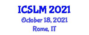 International Conference on Sustainable Land Management (ICSLM) October 18, 2021 - Rome, Italy